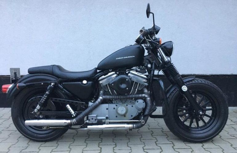 Harley-Davidson, Sportster 883 Custom z 1999, czarny mat, wrap, s&s