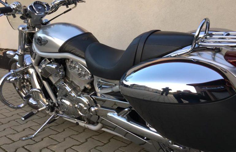 Harley-Davidson VRSC 100th Anniversar, srebrny, anodowany, jubileuszowy,